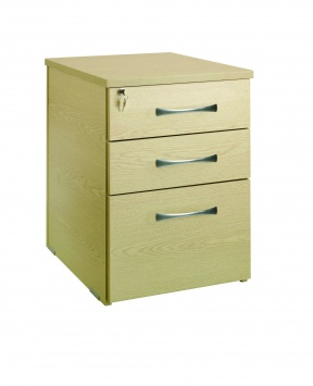Deep 3 Drawer Desk Height Pedestal 60cm(D) [Sun-HPED6]