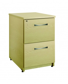 2 Drawer Under Desk Pedestal 80cm(D) [Sun-UPED1]