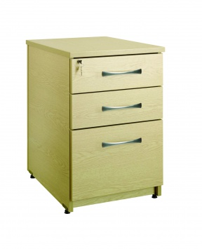 3 Drawer Under Desk Pedestal 80cm(D) [Sun-UPED2]