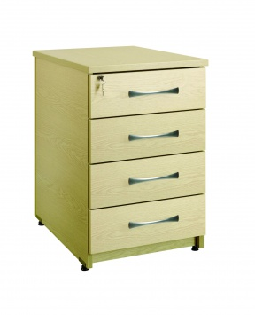 4 Drawer Under Desk Pedestal 80cm(D) [Sun-UPED3]