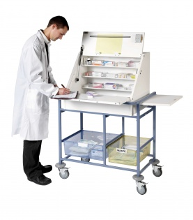 Ward Drug Amp Medicine Dispensing Trolley Keyed To Differ