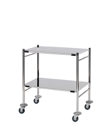 Surgical Trolleys - Stainless Steel (Mirror Polished)