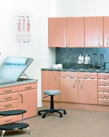 Beech Finish Medical Wall and Base Units