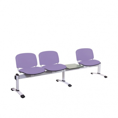 Visitor 4 Section Module - Incorporating 3 Seats/Backs & 1 Magazine Table [Sun-SEAT4T]