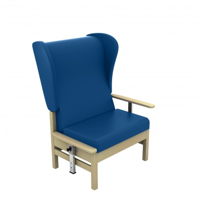 Atlas High Back 40st Bariatric Arm Chair with Wings and Drop Arms [Sun-CHA56DA]