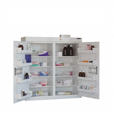 Medicine Cabinet - 8 shelves/8 door trays/2 doors [Sun-MC8]