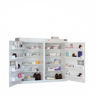 Medicine Cabinet   8 Shelves/8 Door Trays/2 Doors [Sun MC9