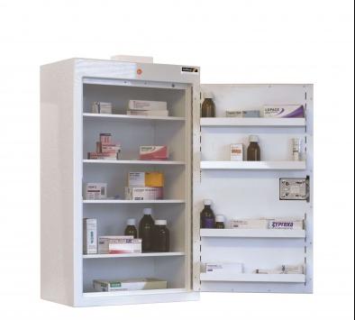 Controlled Drug Cabinet 8 Shelves 8 Trays 2 Doors Sun