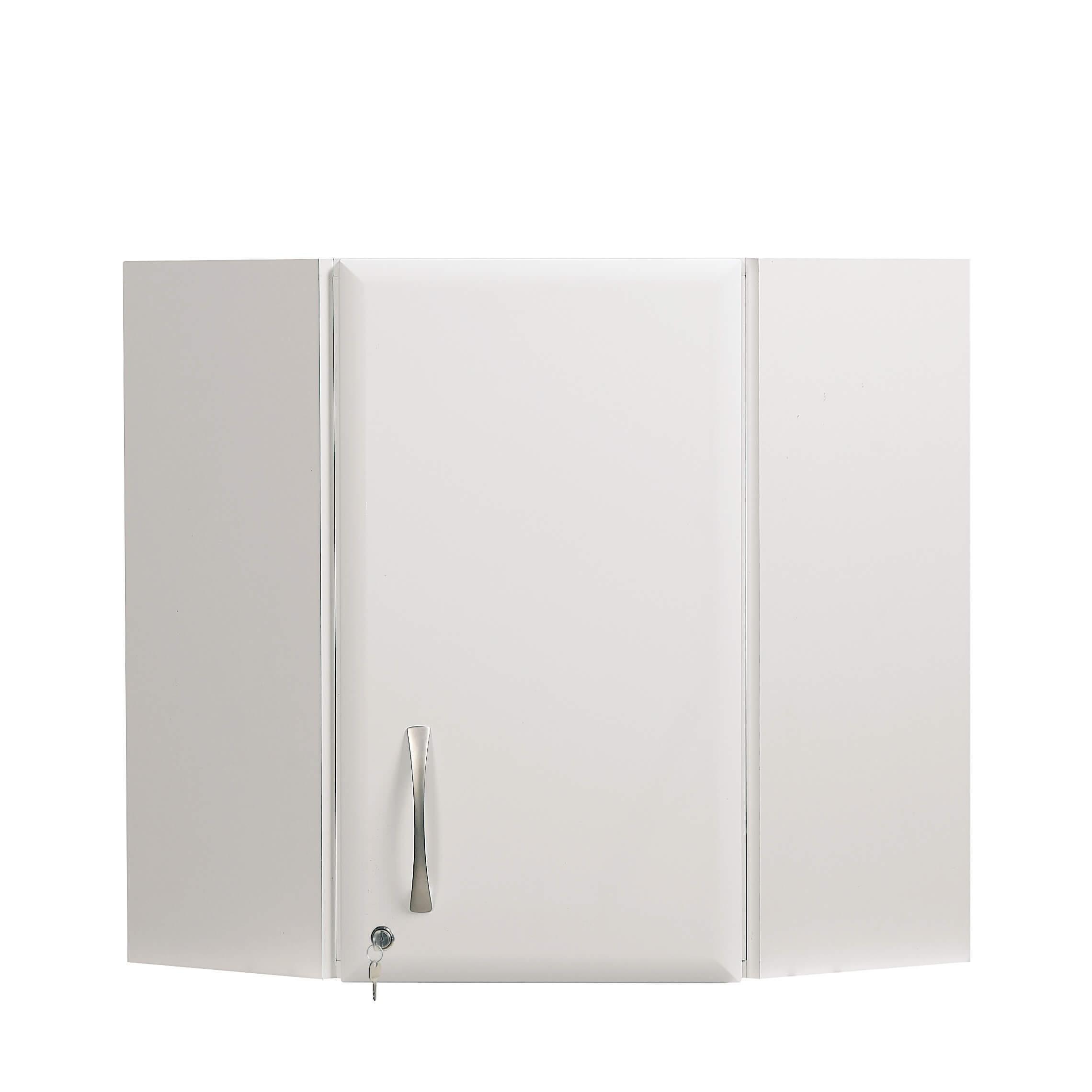 100cm Corner Wall Cabinet - White High Gloss Finish [Sun-WU4W ...