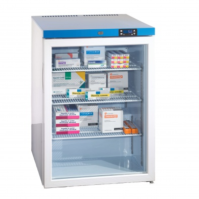 150 Litre Under Worktop, Glass Door Fridge - 3 Shelves [Sun-FRIDGE14]