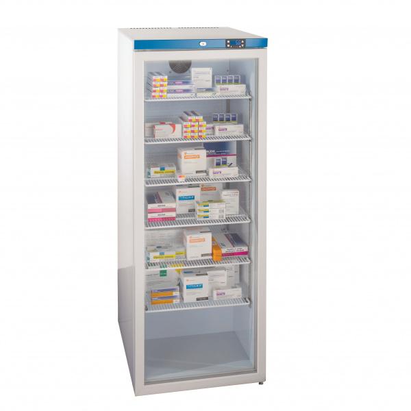 300 Litre Free Standing Glass Door Fridge 6 Shelves