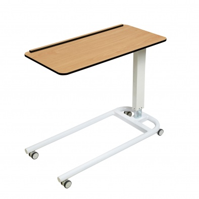 Overbed/Overchair Table with Parallel Base, Flat Top with 1 Raised Lip [Sun-OBT3P/CM/1L]