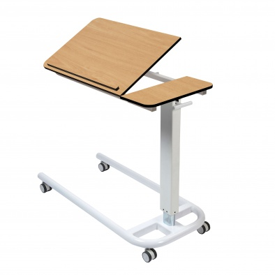 Overbed/Overchair Table with Parallel Base, Tilting Top with 1 Retaining Lip [Sun-OBT4P/CM/1LT]