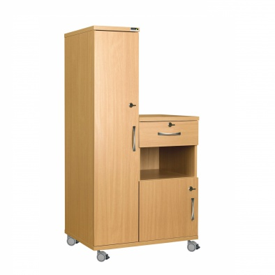 Left Hand Bedside Cabinet Combination Unit with Locks - MFC Material [Sun-CBHBC4-MFC-LOCKS]