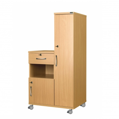 Right Hand Bedside Cabinet Combination Unit with Locks - MFC Material [Sun-CBHBC5-MFC-LOCKS]