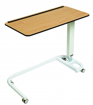 Overbed/Overchair Table with C-Shaped Base, Flat Top with 1 Raised Lip [Sun-OBT3C/CM/1L]