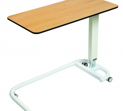 Overbed/Overchair Table with C-Shaped Base and Flat Top [Sun-OBT2C/CM]