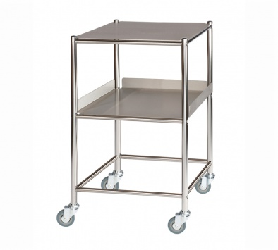 Surgical Trolley, 1 Stainless Steel Shelf & 1 Tray [Sun-ST4S2SF]