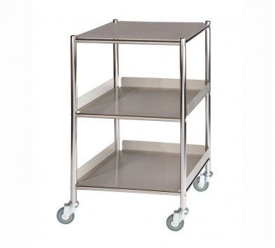 Surgical Trolley, 1 Stainless Steel Shelf & 2 Trays [Sun-ST4S3SF]