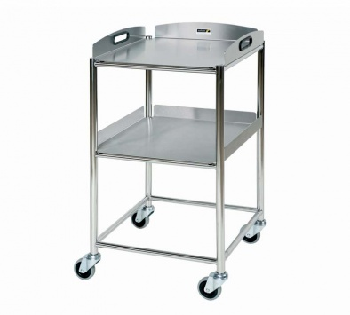 Surgical Trolley, 2 Stainless Steel Trays [Sun-ST4S2]