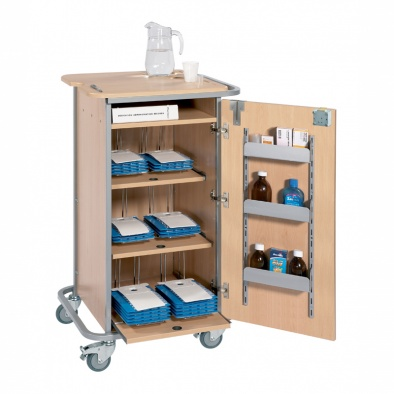 Monitored Dosage System Trolley - Small, 6 Racks [Sun-DT1MDS6]