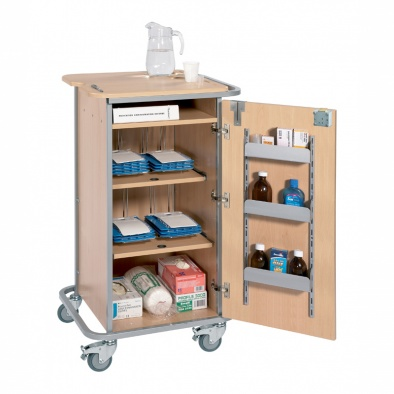 Monitored Dosage System Trolley - Small, 4 Racks [Sun-DT1MDS4]