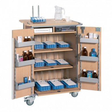 Monitored Dosage System Trolley - Large, 9 Racks [Sun-DT2-MDS9]