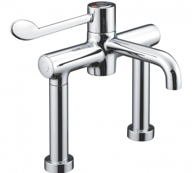 HTM64 Deck Mounted Sequential Thermostatic Mixer Tap [Sun-TAP13]