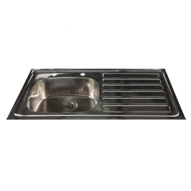 HTM64 Compliant Inset Stainless Steel Sink - Right Hand Drainer [Sun-SNK24]
