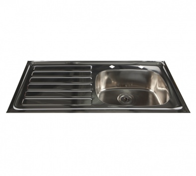 HTM64 Compliant Inset Stainless Steel Sink - Left Hand Drainer [Sun-SNK25]