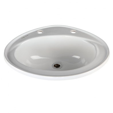 (General Healthcare) Vitreous China Inset Washbasin [Sun-SNK30]