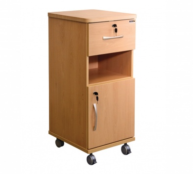 Bedside Cabinet with Locks - Laminate Faced MDF Material [Sun-CBHBC3-LFMDF-LOCKS]