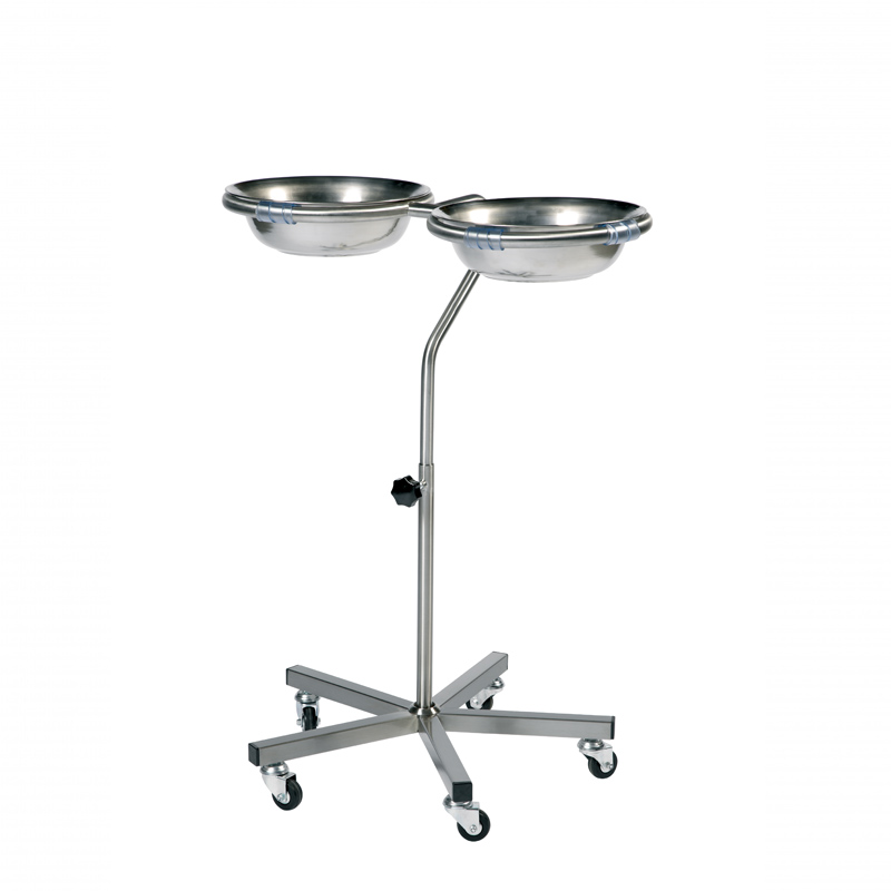 Double variable height bowl stand with 2 bowls [Sun-TBSV02]