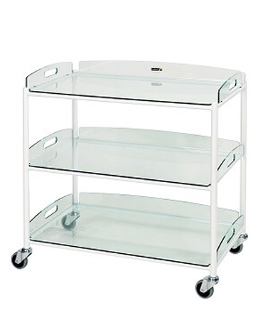 DT8 Dressing Trolleys with Glass Effect Safety Trays