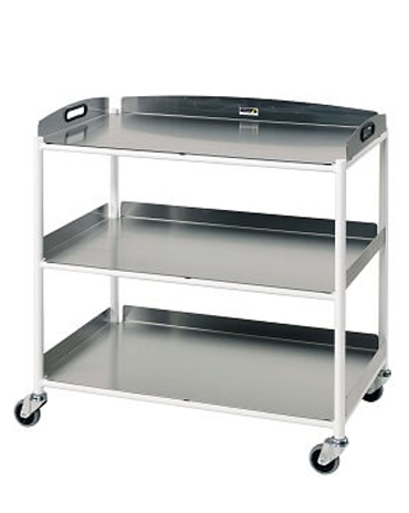 DT8 Dressing Trolleys with Stainless Steel Trays