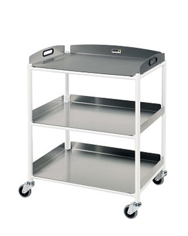 DT6 Dressing Trolleys with Stainless Steel Trays