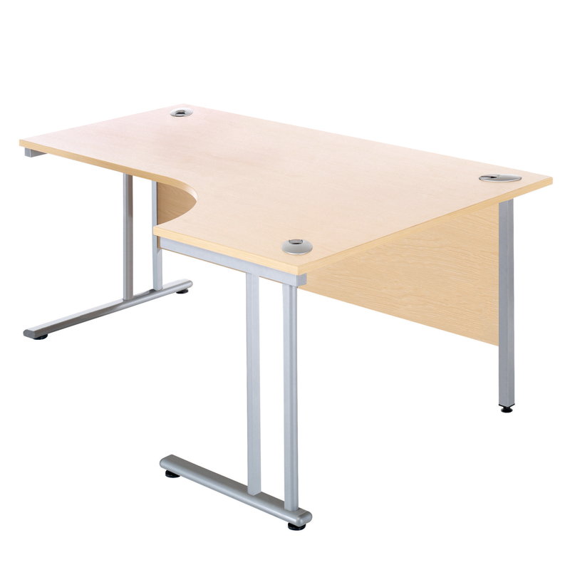 J Shaped Desk (Right Hand)