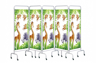 Five Panel Mobile Folding Hospital Ward Screen [Sun-MFS5]