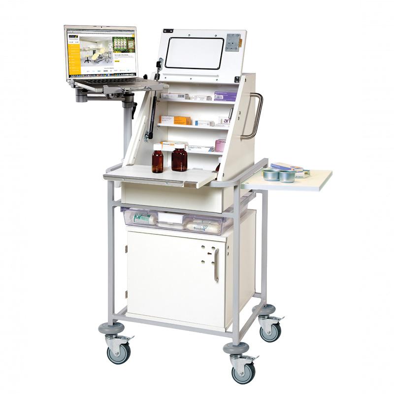 Ward Drug & Medicine Dispensing Trolley for Laptop [Sun