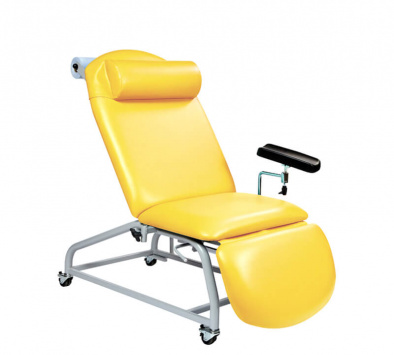 Fixed Height Reclining Phlebotomy Chair - 4 Locking Castors [SUN-PHLEB2]