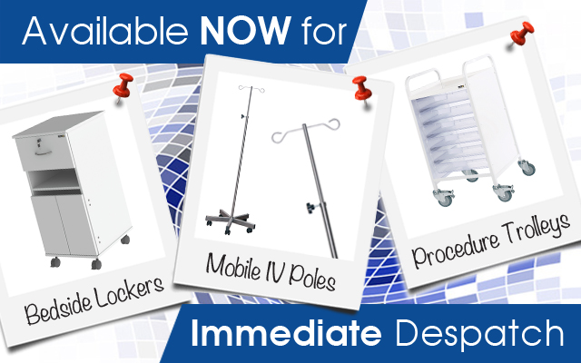 BEDSIDE LOCKERS • MOBILE IV POLES • PROCEDURE TROLLEYS